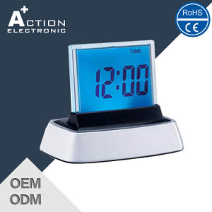 Digital Indoor Temperature Alarm Clock with Colorful LED Backlight Changing pictures & photos