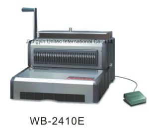 New Design Electrical Office Use Wire Book Binding Machine Wb-2410e pictures & photos