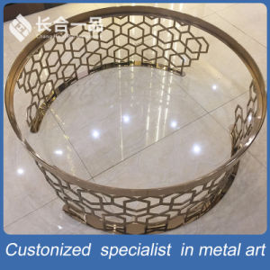New Style Stainless Steel Mirror Titanium Golden Round Tea Table pictures & photos