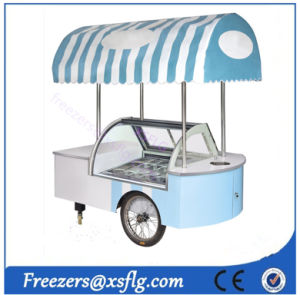 Italian Sticker Popsicles / Ice Cream Gelato Gelatin Showcase / Lolly Display Carts Trolley Freezers pictures & photos