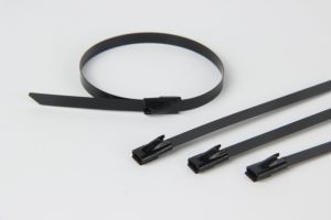 Dnv ABS UL Approved Full Epoxy Coated Ball Lock Type Stainless Steel Cable Ties pictures & photos