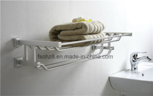 Quality Bathroom Accessories Aluminum Shelf Towel Rack (835) pictures & photos