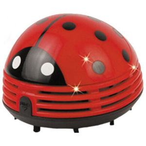 Dry Battery Office Desk Brush Portable Mini Ladybug Vacuum Dust Collector Corner Cleaner pictures & photos