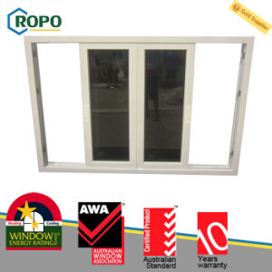 PVC Double Glazing Tempered Glass Sliding Window pictures & photos