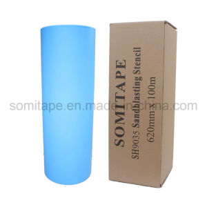 Somitape Sh9025 Premium Grade Self Adhesive PVC Stone Masking Tape for Sandblasting Protection pictures & photos