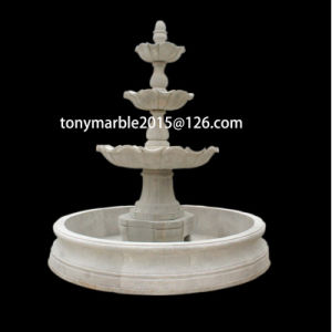 Hand Carved White Stone Sculpture Water Fountain (SY-F006) pictures & photos