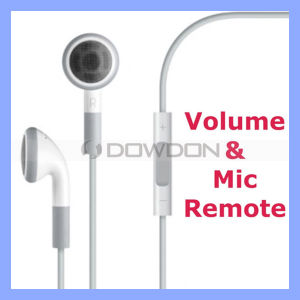Earphone for iPhone 4 4s iPad iPod with Mic Remote and Volume Control Headset Headphone pictures & photos