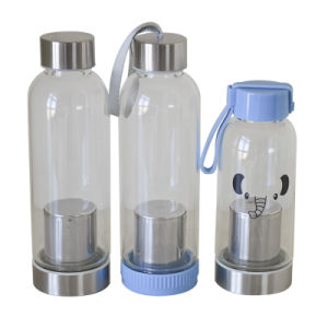 350ml Personalized Narrow Mouth Glass Water Bottles for Water Dx-108 pictures & photos