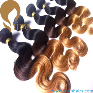 Ombre Colour Body Wave Virgin Remy Human Hair Weft pictures & photos