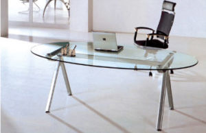Glass Steel Legs Conference Table (1005A)