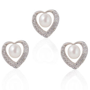 Silver Pearl Jewelry Set, Pearl Wedding Jewelry pictures & photos