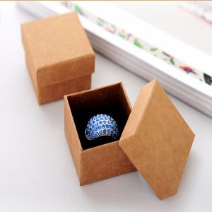 Simple Square Paper Ring Box Gift Packaging Jewelry Box pictures & photos