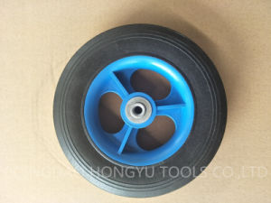 Solid Rubber Metal Rim Wheel pictures & photos