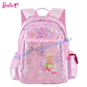 Handable Soft Barbie with Accessory Student Schoolbag / Backpack
