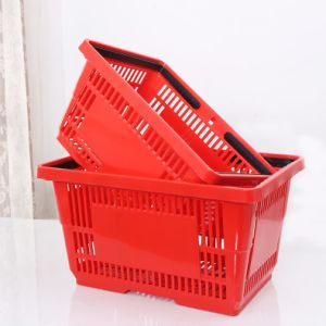 Supermarket Plastic Basket pictures & photos