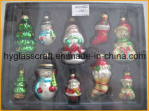 One Set Hand Blown Christmas Glass Ornaments for Tree Decoration pictures & photos