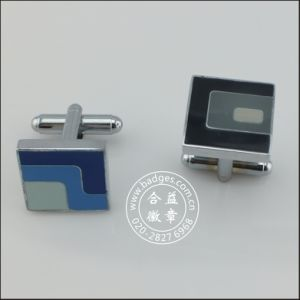 Enamel Metal Clothes Accessories, Square Cufflink (GZHY-XK-001) pictures & photos
