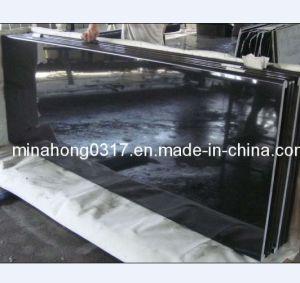 Absolute Black/Pure Black/Shanxi Black Granite Countertop, Vanity Top Slabs pictures & photos