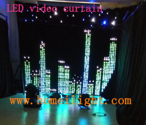 LED Video Vision Curtain Cloth Backdrop for Stage pictures & photos