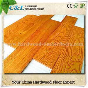 Golden Color Oak Wood Flooring pictures & photos
