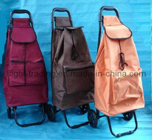 Large Folding Lightweight Wheeled Shopping Trolley 2 Wheeled Shopping Trolley pictures & photos