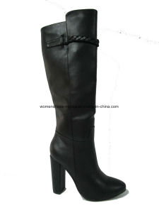 Lady Fashion Chunky High Heel Overknee Boots for Party pictures & photos