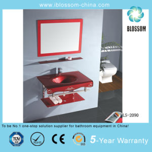 Bathroom Vanity Accessory Glass Washing Basin with Mirror (BLS-2090) pictures & photos