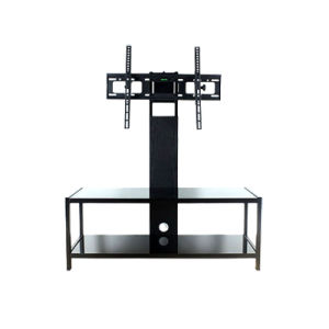 Height Adjustable Glass TV Stand (TS019) pictures & photos