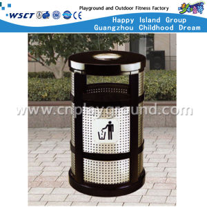 Outdoor Environmental Protention Metal Trash Bin with Ashtray (HD-18507) pictures & photos