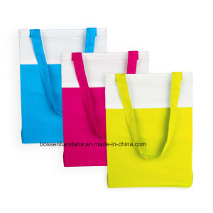 OEM Produce 100% Cotton Machine Washable Promotional Logo Printed Cotton Shopping Tote Bags pictures & photos
