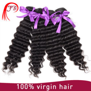100% Indian Human Hair Temple Natural Deep Wave Virgin Hair pictures & photos