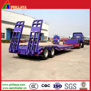 2 Axle 50 Tons Low Bed Drop Deck Trailer pictures & photos