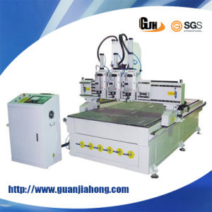 Multi Workstage, Pneumatic Three Heads, 1325 Wood Working CNC Router pictures & photos