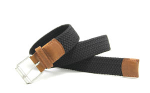 Classic Cotton Webbing Braided PU Fashion Belt Cky0311 pictures & photos