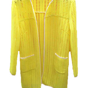 Yellow Polyester Fashion Mesh Fabric for Garment (M1009) pictures & photos