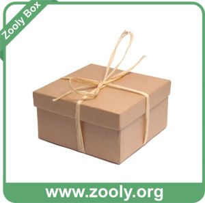 Natural Brown Kraft Paper Cardboard Gift Box with Lid pictures & photos