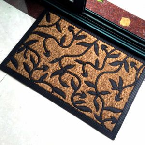 Rubberized Entrance Welcome Coco Coconut Rubber Backed Coir Mats pictures & photos