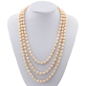 60 Inch Women Long Multicolor DOP Shape Fresh Water Real Cultured Jewelry Freshwater Pearl Necklace pictures & photos