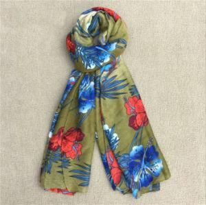 Wholesale China Flower Printed Shawls Pashmina Designer Scarf pictures & photos