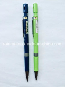 Plastic Propelling Pencil with 2 Color Yellow and Black of The Barrel pictures & photos