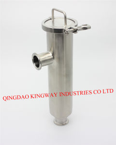 Stainless Steel Sanitary Angle-Type Strainer. pictures & photos