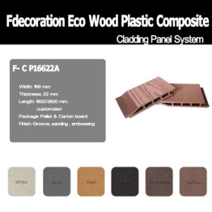 100% Recycled WPC Material Composite Wood WPC Wall Cladding