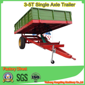 Single Axle 2 Tyres Dump Trailer in Europen Style pictures & photos