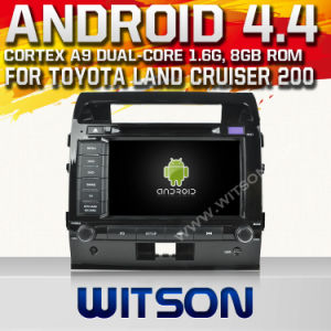 Witson Android 4.4 Car DVD for Toyota Land Cruiser 200 with Chipset 1080P 8g ROM WiFi 3G Internet DVR Support pictures & photos