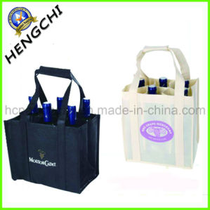 Logo Printed Non Woven Wine Bottle Bag for Shop (HC0006) pictures & photos