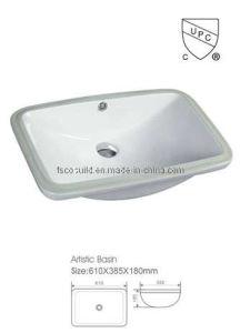 Upc Bathroom Under Mounted Porcelain Sink Ceramic Basin (CB-5610)