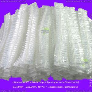 Disposable PE Stripe Bath Cap pictures & photos