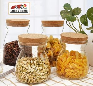 Wood Cork Glass Jar 700ml, 1000ml Top Ranck in Kitchenware pictures & photos