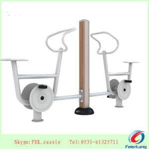 Plastic-Wood Bicycle Outdoor Gym Equipment pictures & photos
