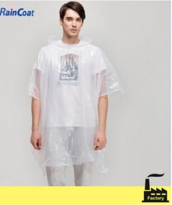 Clear Plastic Men Design Rain Coat